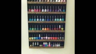 DIY: Nail Polish Wall Rack