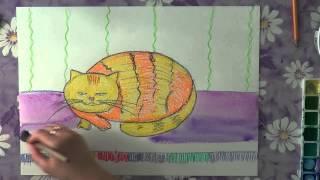 Как рисовать масляной пастелью.(В данном видео рассказано о том, как рисовать масляной пастелью кота (как на этом видео http://youtu.be/dLs6IXIEWvM)...., 2013-05-12T19:26:20.000Z)