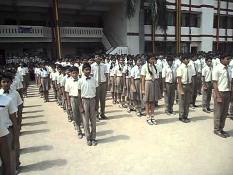 National Anthem at Firayalal Public School, Ranchi, Jharkhand.