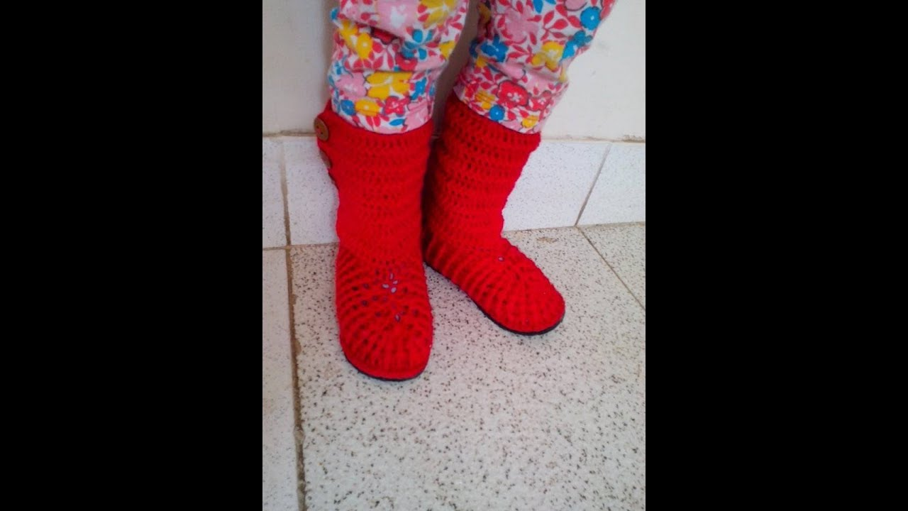 Botas En Crochet facil - YouTube