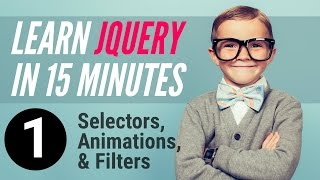 Learn jQuery in 15 minutes – Part 1 – Selectors, Animations, Filters(Visit http://killingitwithjquery.com to start killing it! Learn jQuery in 15 minutes!!! in this video we look at: - jQuery selectors - jQuery animations - jQuery filters Get ..., 2016-04-04T16:17:02.000Z)