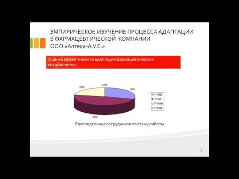 Дипломная презентация по процессу адаптации молодых специалистов