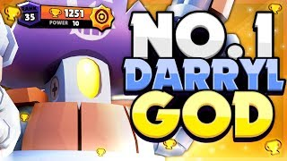 THE META NIGHTMARE! - No.1 Rank 35 Darryl GOD! BEST Brawler In Brawl Stars!