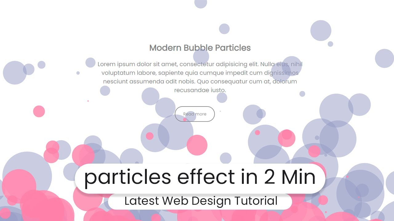 Bubble Particles Effect in 2 min - Latest Particle Effect Tutorial