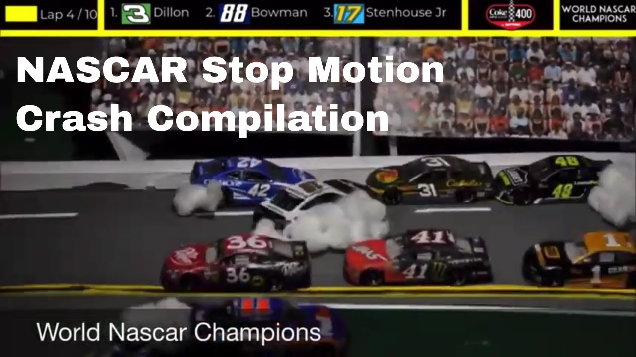 NASCAR Stop Motion Crash Compilation