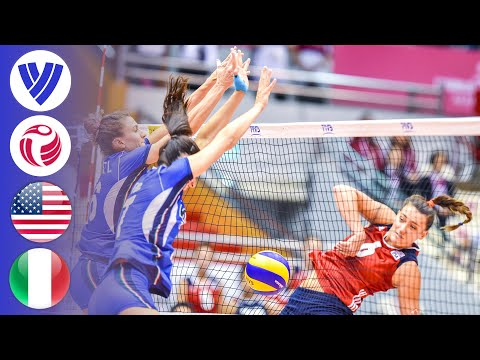 USA Vs. Italy - Full Match   Women's Volleyball World Grand Prix 2017