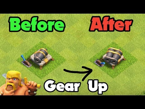 GEAR Up Canon Level 8 - New Features Of Clash Of Clans Gear Up Canon