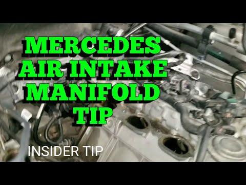 Mercedes Air Intake Manifold Installation Tip
