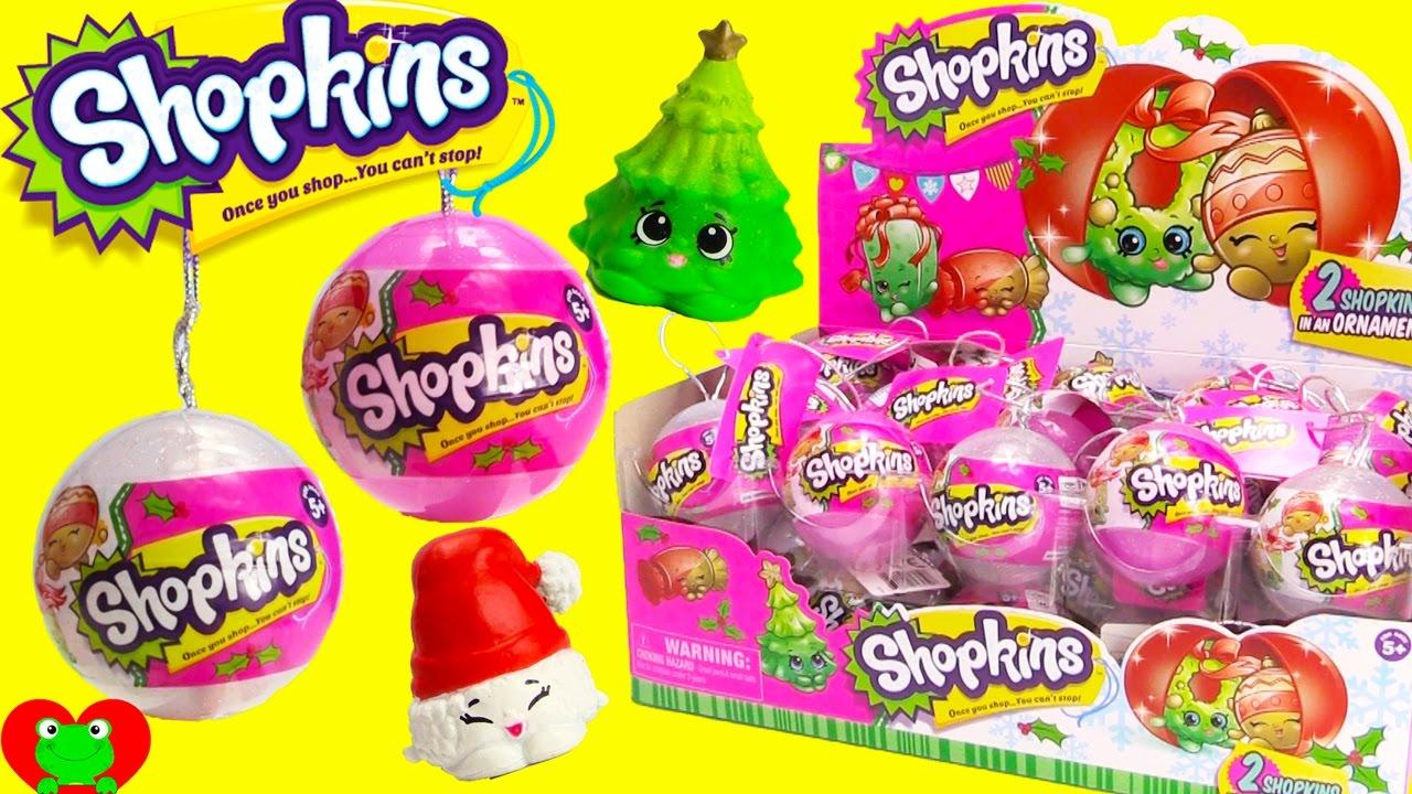 2016 Shopkins Christmas Ornaments - YouTube