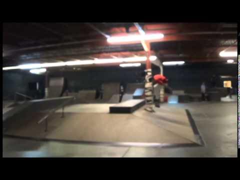 Skate Naked indoor skate park, Columbus Ohio - YouTube