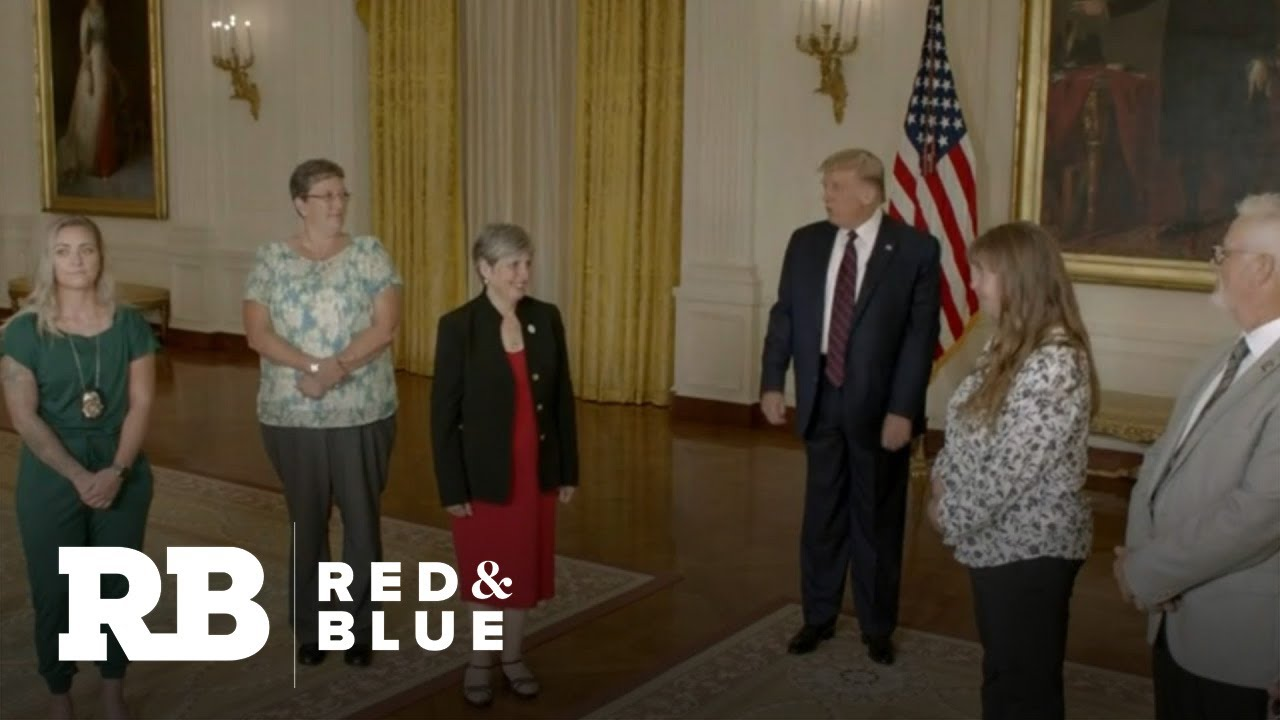 Trump appears in RNC video with essential workers