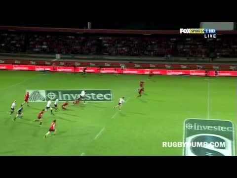 Robbie Fruean's try saving tackle on Adam-Ashley Cooper