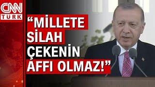 Cumhurbaşkanı Erdoğandan 15 Temmuz töreninde net mesaj Darbeciler karşımıza dikilseydi...