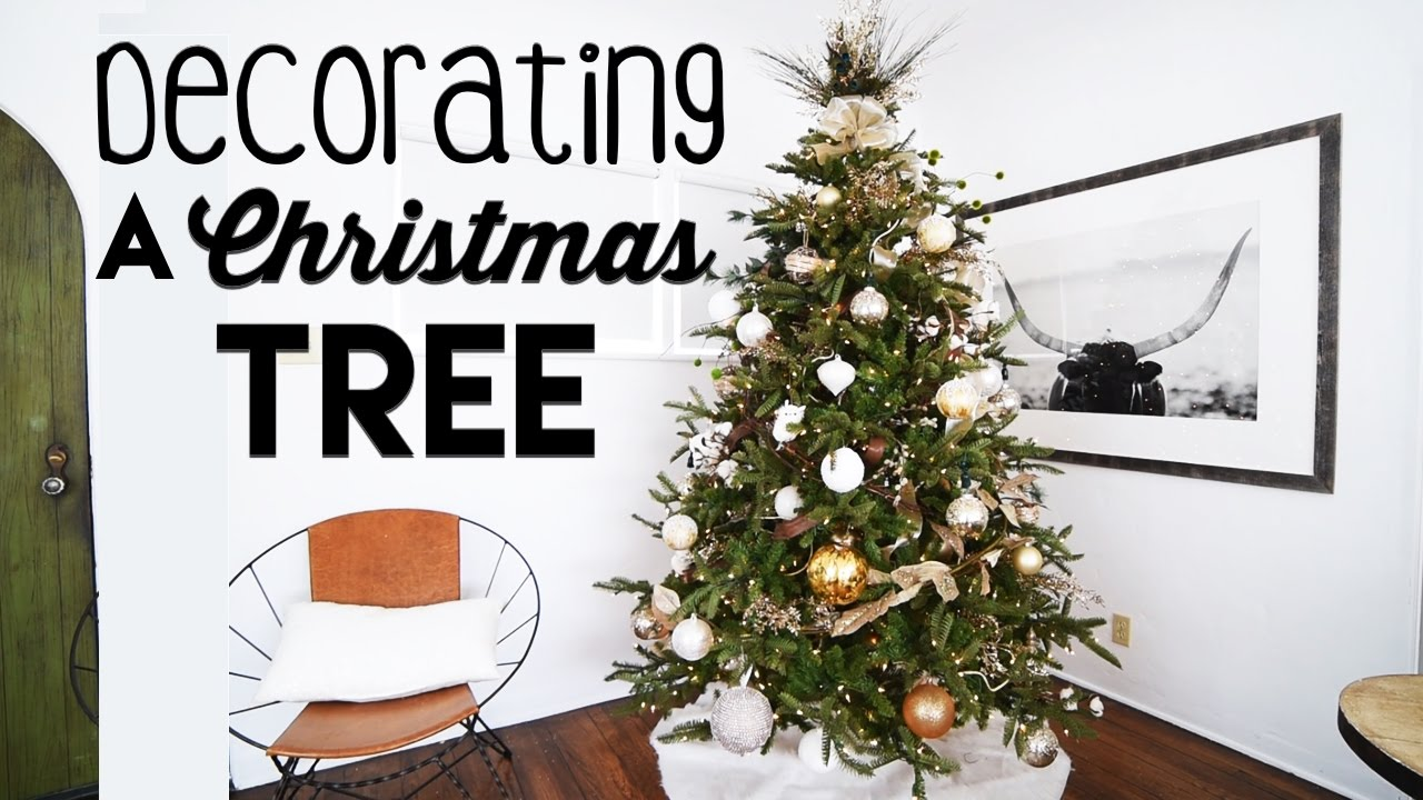 rustic glam christmas tree decorating for small apartments steps to tree decorating youtube