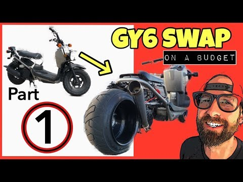 Honda Ruckus GY6 swap [COMPLETE ALL IN ONE KIT] Part 1