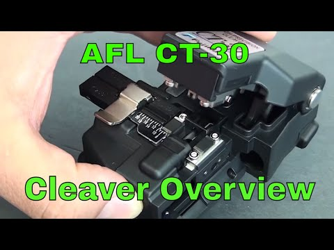 AFL Fujikura CT-30 Precision Fiber Optic Cleaver Overview