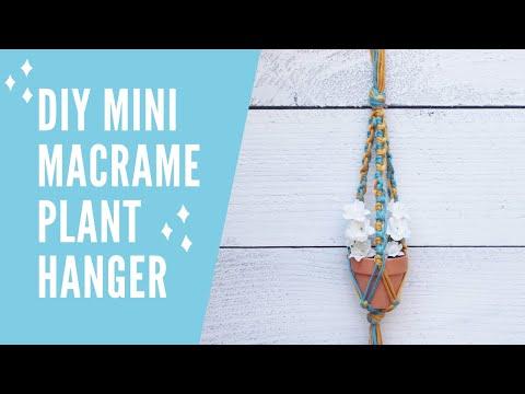 diy-mini-macrame-plant-hanger-|-easy-|-step-by-step