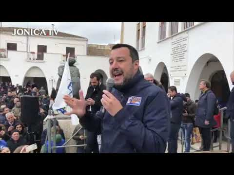 Comizio Matteo Salvini a Policoro