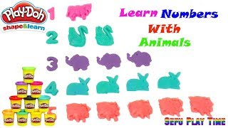 Learn Colors, Numbers and Animals with Play Doh Fun & Creative for Kids