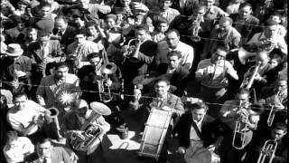 Italians celebrate the news of Italian armistice during World War 2 HD Stock Footage