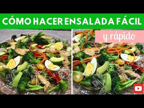 Cómo hacer ensalada fácil y rápido | Cocina de Addy