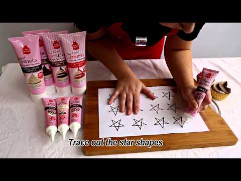 Chocolate Decorating - Creating a star topper with Choco Writers