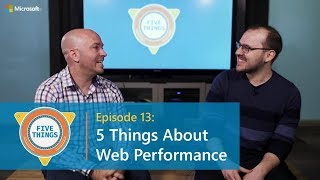 #FiveThings About Web Performance