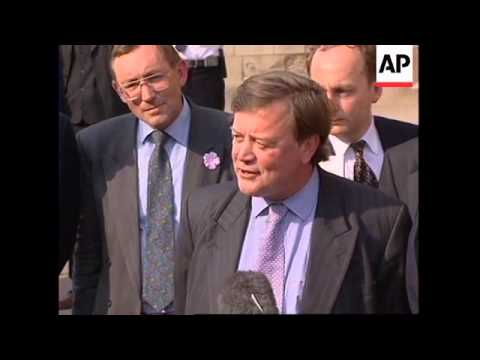 UK: TORY PARTY LEADERSHIP CONTEST: KENNETH CLARKE WINS 2ND ROUND