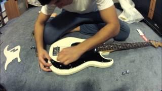 P Bass pickguard swap