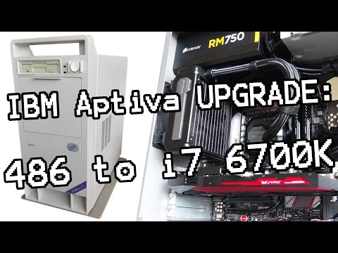 Retro PC build! My 1995 IBM Aptiva PC gets a nice upgrade. 486 to Skylake i7 6700k!