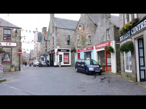 Short walk in the centre of Lerwick, Shetland before boarding the ferry