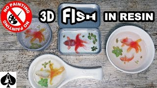 3D Fish In Resin Design Ideas - 4 New Projects Using Stickers!