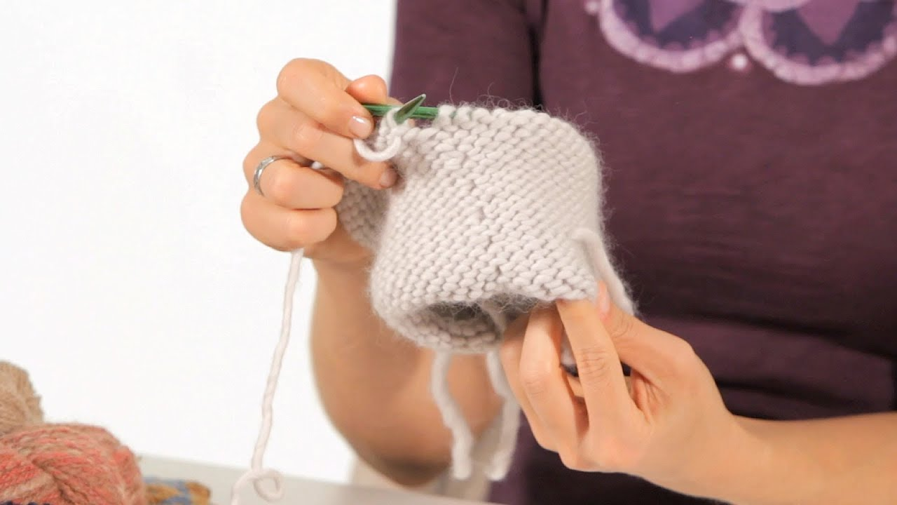 Reverse Stockinette Stitch In The Round Circular Knitting Youtube