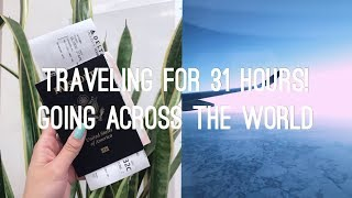 31 HOURS OF TRAVELING   AIRPORT & AIRPLANE VLOG