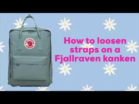 How to adjust straps on a Fjallraven Kanken. ✰ ✰