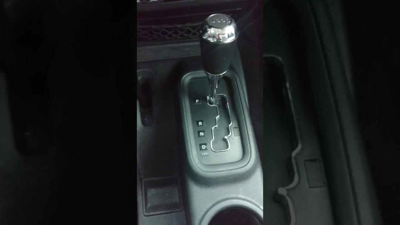 2017 Jeep Wrangler Unlimited Center Console P R N D Light Change