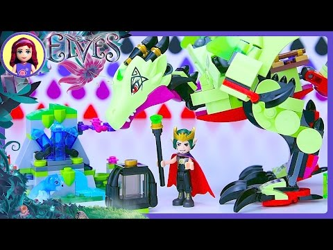 LEGO Elves The Goblin King's Evil Dragon Build Review Silly Play Kids Toys