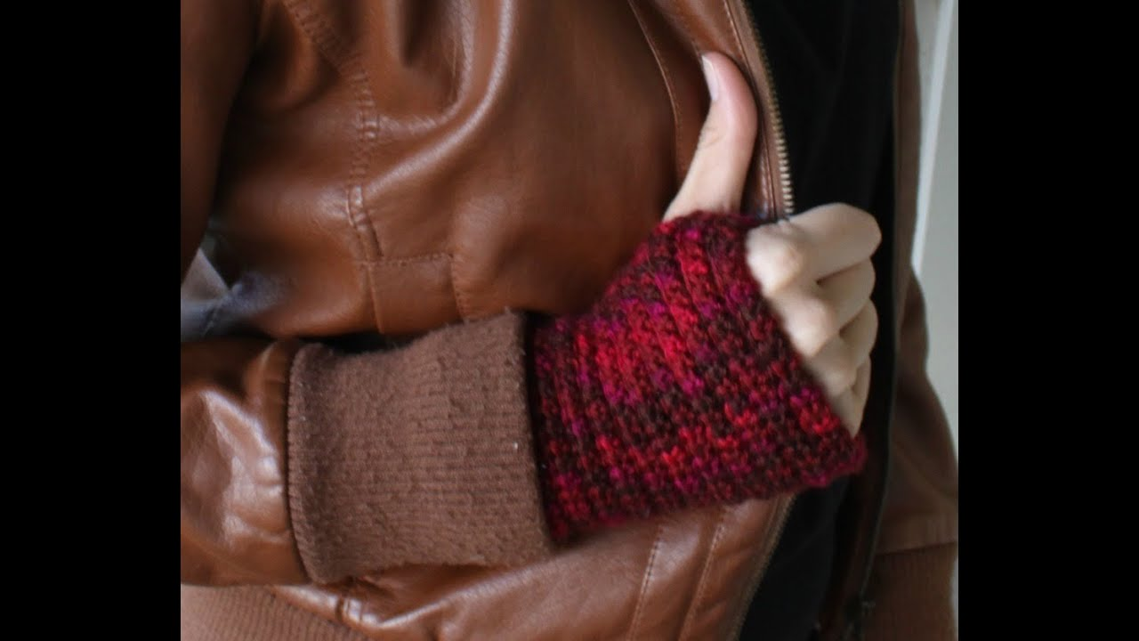 how to crochet fingerless gloves wristers youtube jeuxipadfo Image collections
