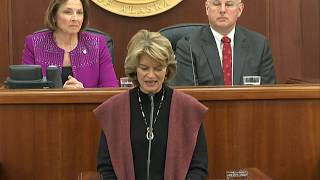 U.S. Senator Lisa Murkowski Address to the Alaska Legislature