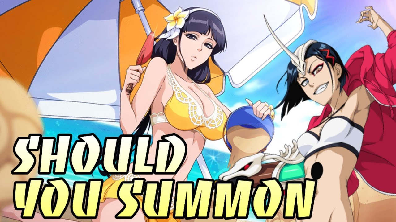SHOULD YOU SUMMON!?!: SWIMSUIT NEMU, HALIBEL, APACHE BANNER AND INDIVIDUAL BREAKDOWNS - BLEACH BRAVE