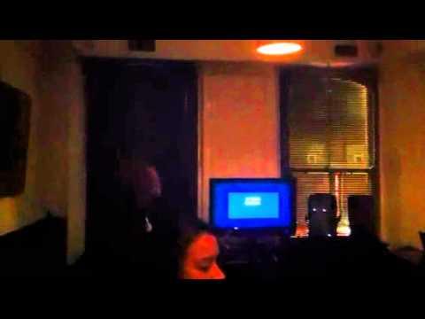 Fergus does karaoke
