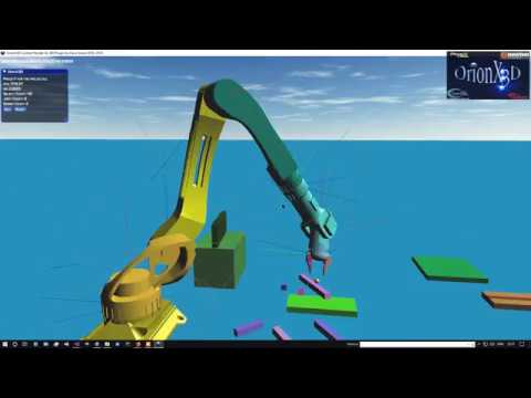 OrionX3D Physx 4.1 Experimental Kinematic Controller Robot Test2.