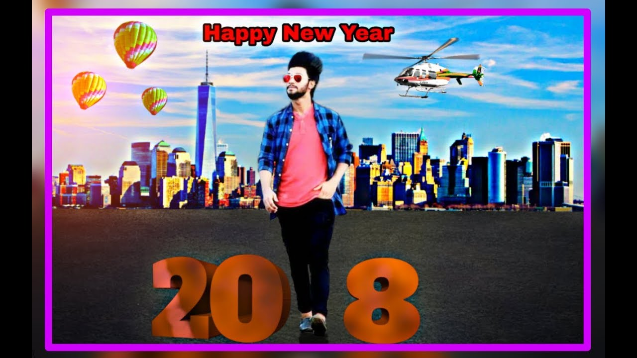 happy new year 2018 photo editing picsart background change photo editing tutorial