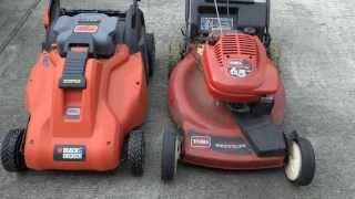 My B&D Cordless Battery Powered Electric Mower Test Drive PART III - ONE YEAR LATER
