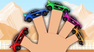 Sports car Finger Family | Racing car | Car Race For Kids