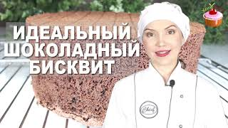Очень ВКУСНЫЙ БИСКВИТ для Торта Пошаговый Рецепт Шоколадного БИСКВИТА. Бисквит для шоколадного торта