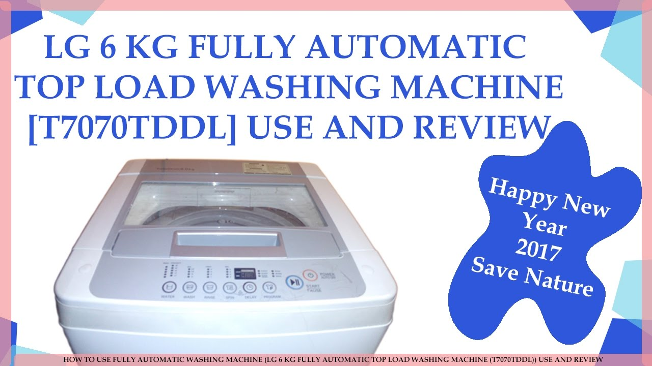 how to use a lg washing machine
