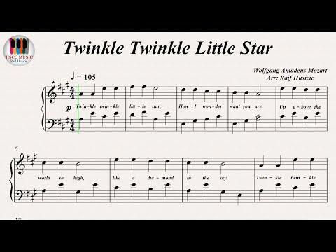 Twinkle Twinkle Little Star, Piano
