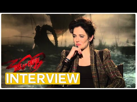Eva Green and her favorite weapon | 300 - Rise of an Empire exclusive interview (2014)
