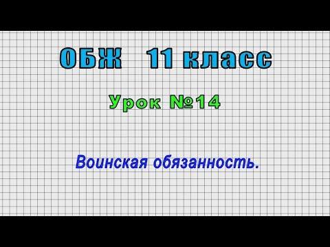 ОБЖ 11 класс (Урок№14 - Воинская обязанность.)